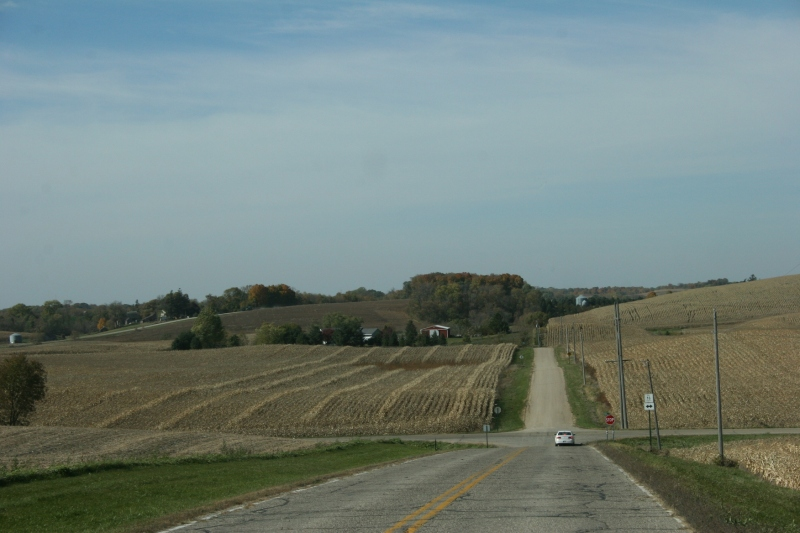 Just west of North Morristown, Minnesota.