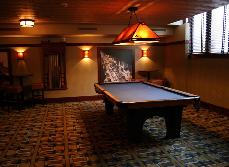 The billiard room.