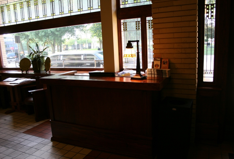 The Park Inn Hotel front desk.