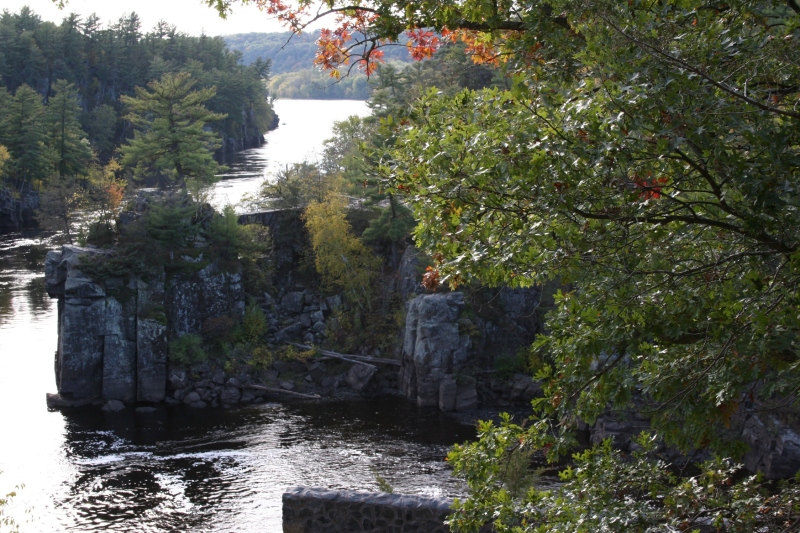 The rocky St. Croix River gorge is stunning in its craggy beauty.
