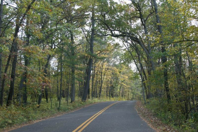 Driving through Interstate Park.
