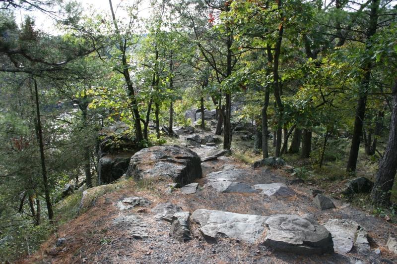 Rocky terrain defines Wisconsin's Interstate Park.