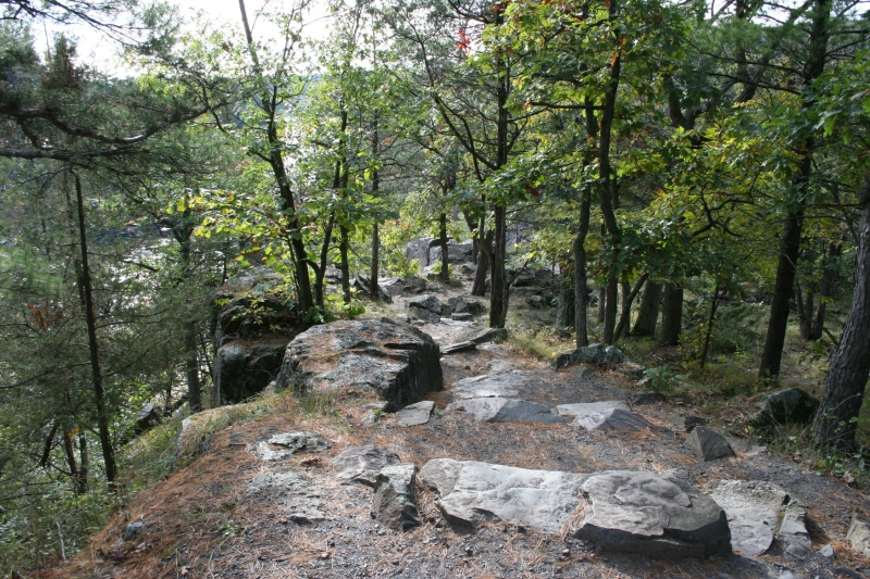 Rocky terrain defines Wisconsin's Interstate Park.
