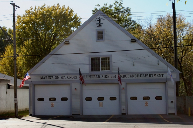 The volunteer fire department is housed in the heart of the downtown.