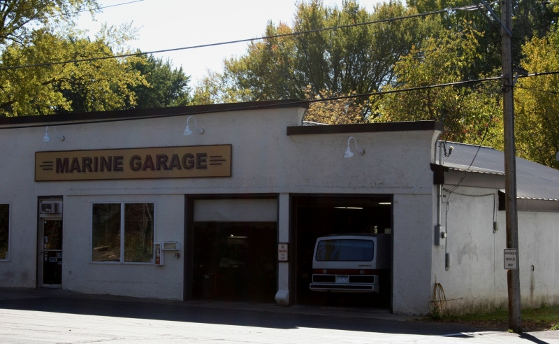 There's a garage in town.