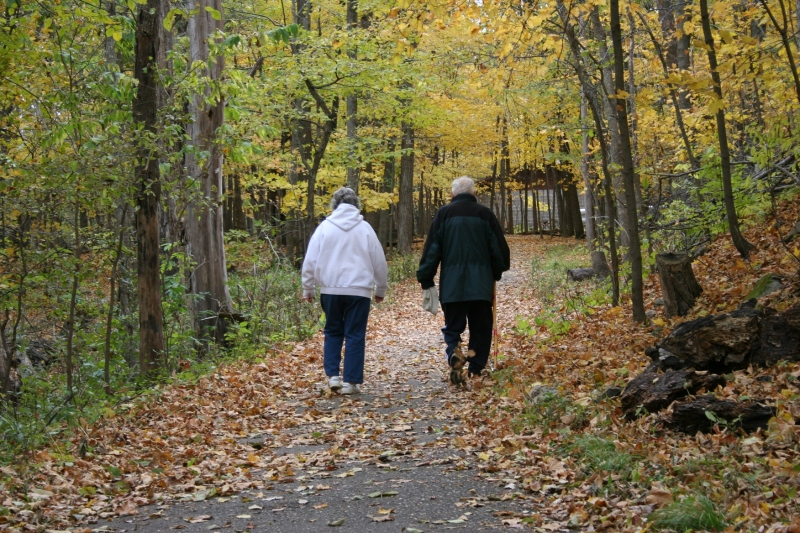 So many folks were walking the trails on a gorgeous autumn afternoon in southeastern Minnesota.