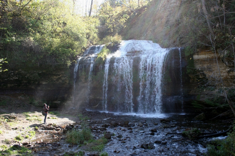 Many are drawn to the natural beauty of Cascade Falls in downtown Osceola.