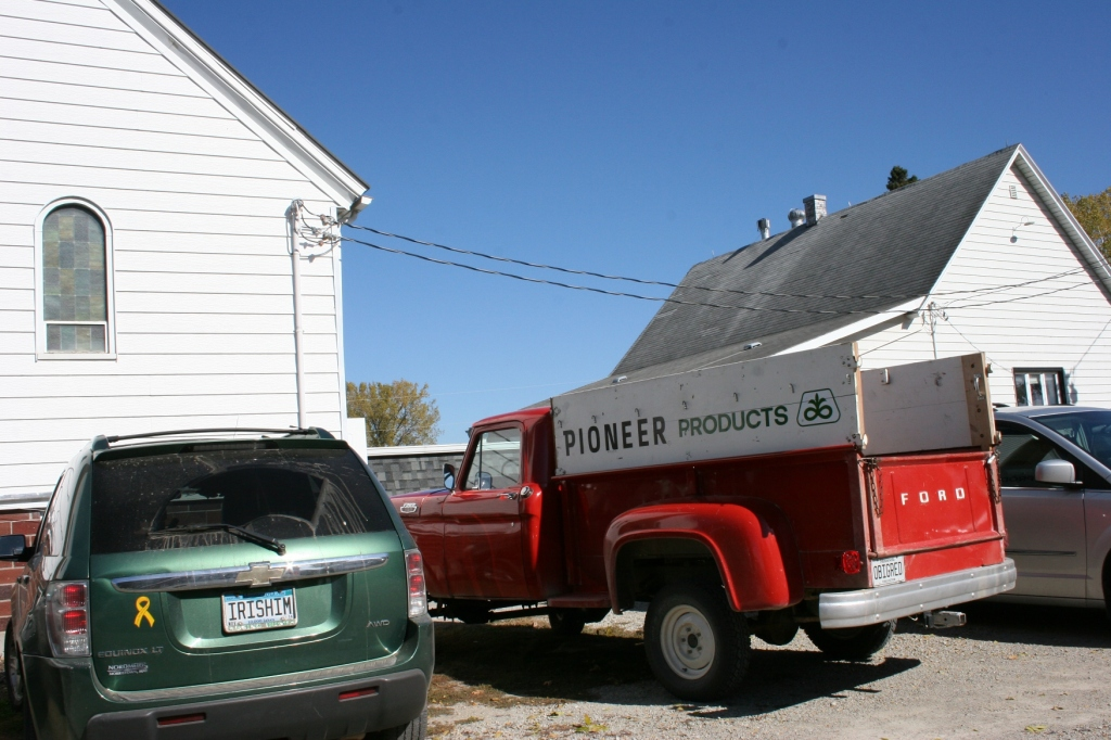 Parked outside Trinity Lutheran Church North Morristown on Sunday morning for the congregation's annual fall dinner.