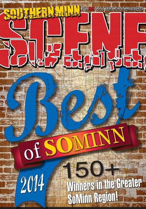 """The cover of Southern Minnesota Scene's November issue featuring the 150-plus """"best of"""" winners."""