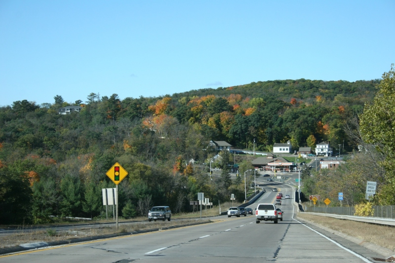 Driving toward Taylors Falls, Minnesota, from the east.