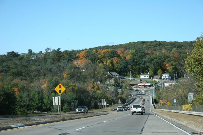 Driving toward Taylors Falls, Minnesota, from the east.