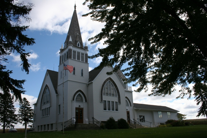 The picturesque Vang Lutheran Church was built in 1896.
