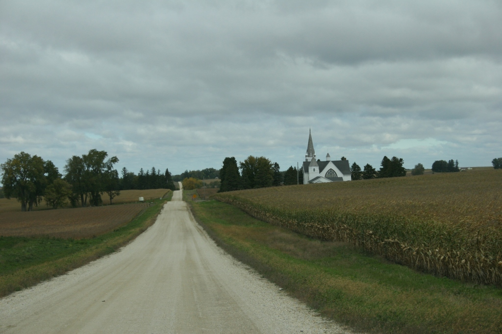 """Vang Lutheran is set among the farm fields of Goodhue County. The name """"Vang"""" means field. Vang is a region of Norway from which the areas first settlers arrived."""