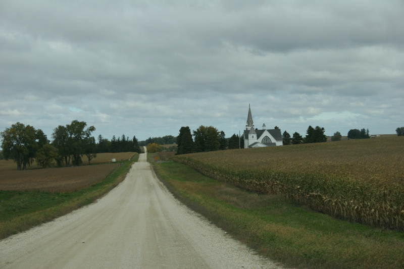"Vang Lutheran is set among the farm fields of Goodhue County. The name ""Vang"" means field. Vang is a region of Norway from which the areas first settlers arrived."