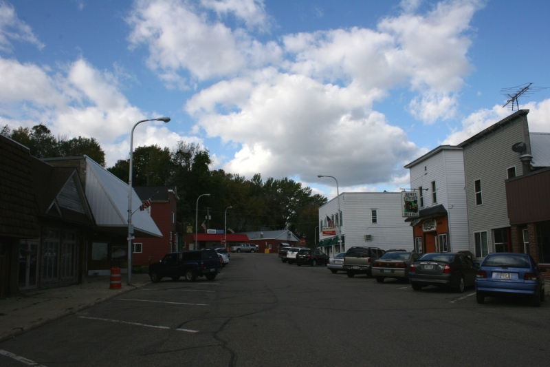 A section of East Ellsworth's compact business district.