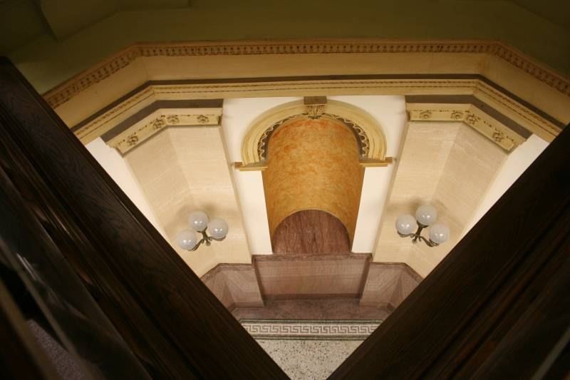 Looking down from the rotunda.