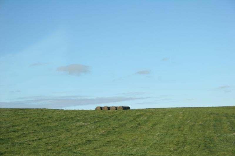 Rural, round bales