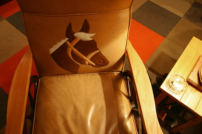 Anything Western related was especially popular in the 1950s and 1960s. Here you see the Western influence in furniture.