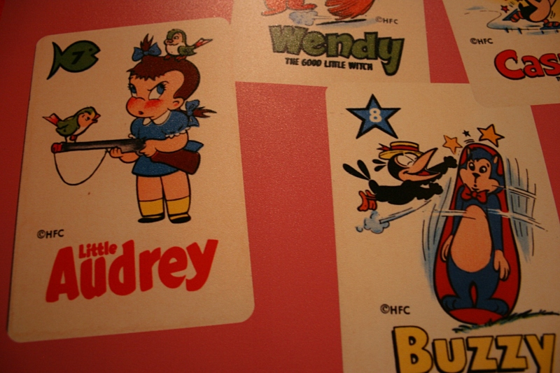 Never saw this cartoon and I'm glad I did. Audrey carrying a gun? Really.