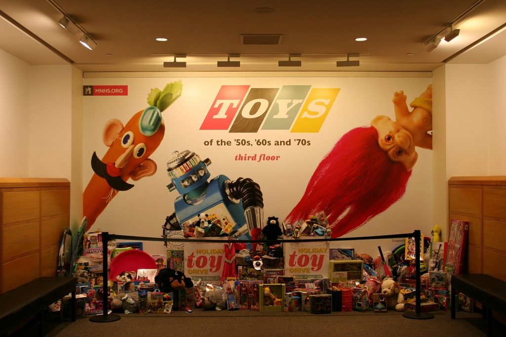 Toys, promo on wall