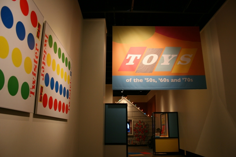 Toys, sign and Twister