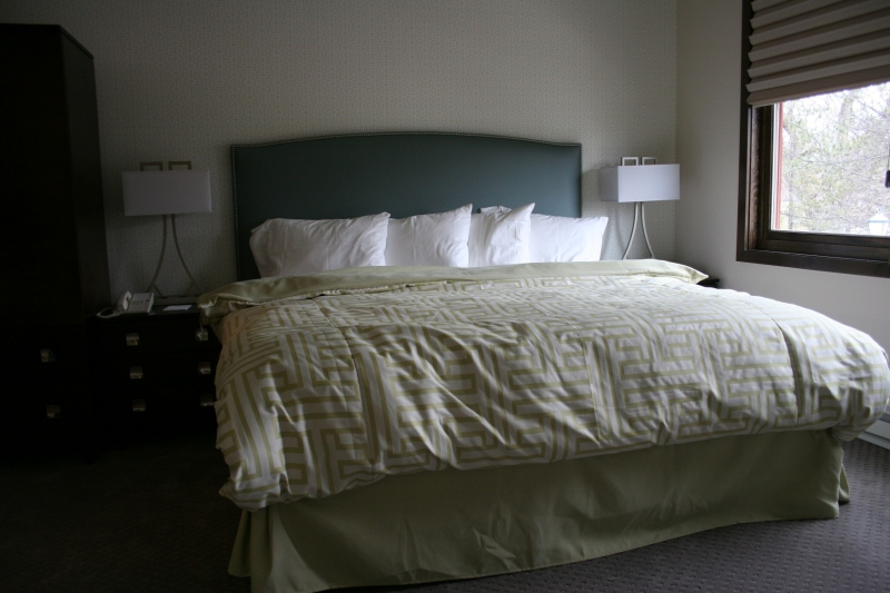 One of several guest rooms open during the public tour.