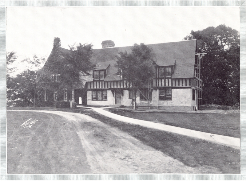 In the early 1920s, a wing was enlarged and covered with stucco. It became the Phelps Infirmary. The infirmary opened just in time for an outbreak of scarlet fever. Photo courtesy of Shattuck-St. Mary's School.