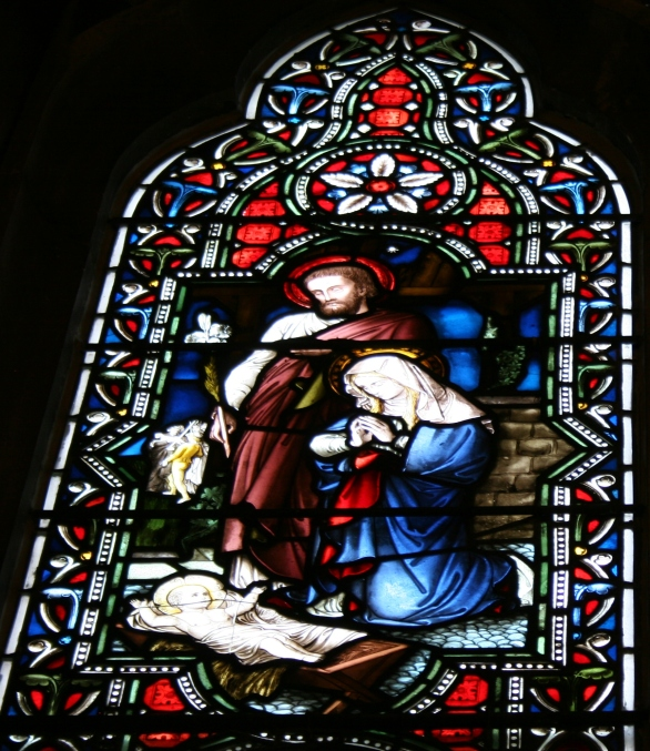 A stained glass window in the Chapel of the Good Shepherd, Shattuck-St. Mary's School, Faribault, Minnesota.