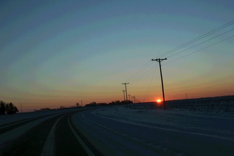 Thanksgiving morning sunrise between Faribault and Kenyon