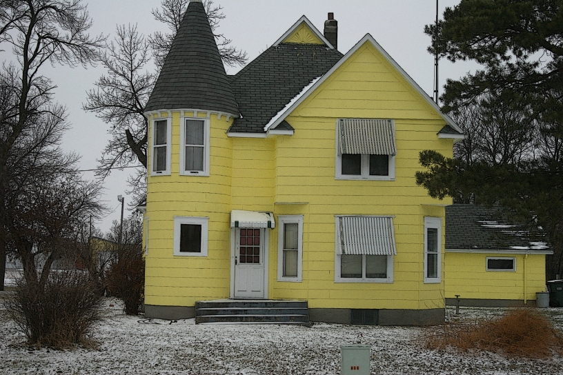 You can't miss this bright yellow house along a Redwood County road just off U.S. Highway 14 in Lamberton.