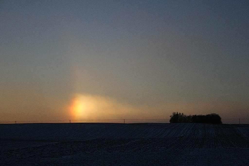 A sun dog photographed from Interstate 35 between the Northfield and Faribault exits.