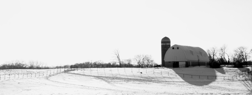 This rural scene was shot along Interstate 35 somewhere south of Lakeville, Minnesota.