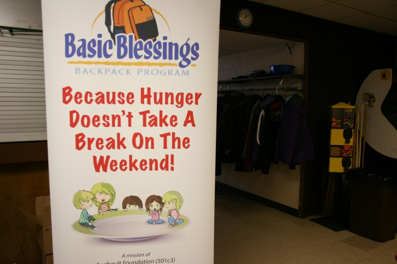 One of the beneficiaries: Basic Blessings Backpack Program.