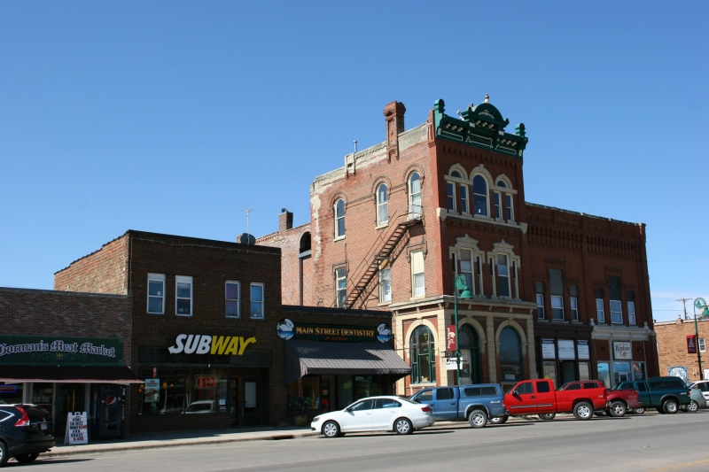 Driving along Pine Island's busy Main Street, I notice a meat market and a Subway. I was looking for a small town cafe.