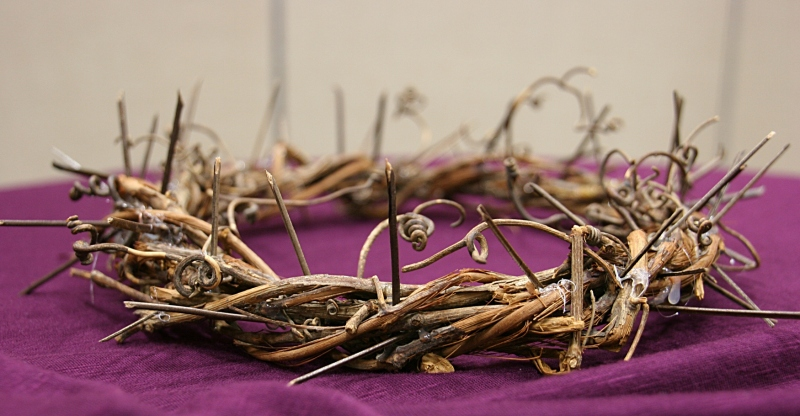 A volunteer crafted this crow of thorns similar to the one Christ wore on the cross.