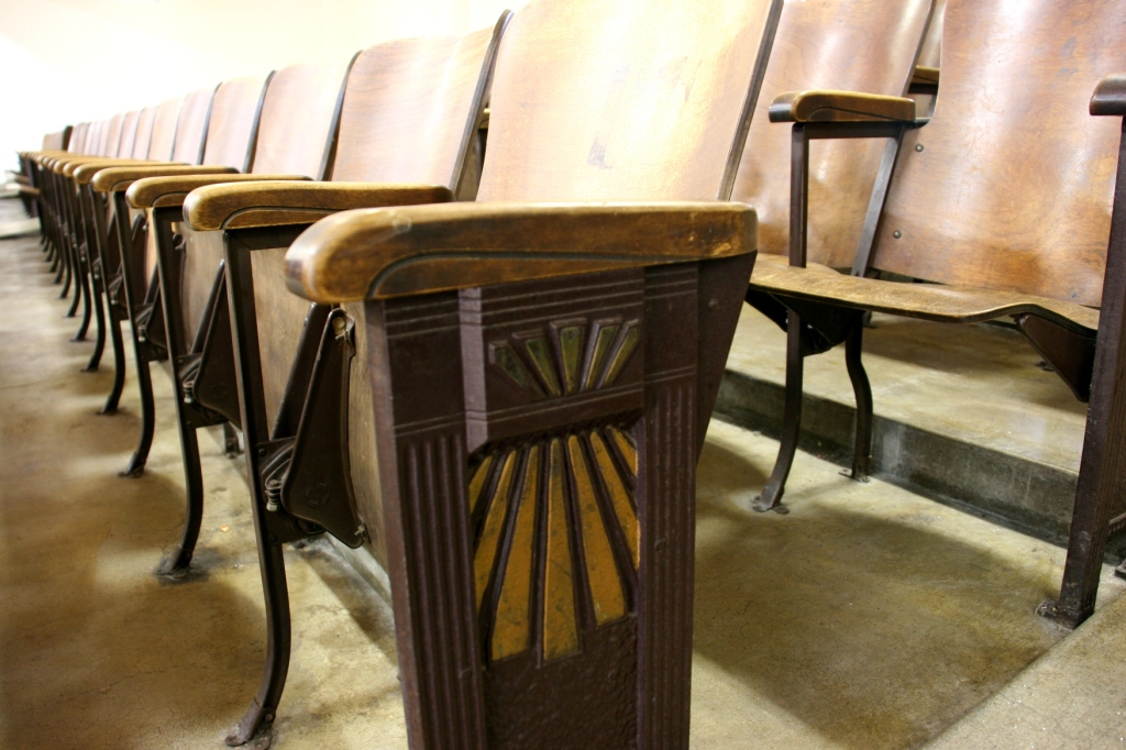 Handcrafted detail on the vintage seating.