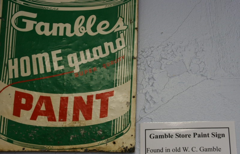 I love vintage signs and graphics. And how many Gambles stores even exist any more? This sign was found in the old West Concord Gambles store opened in about 1935 by Clarence Barwald.
