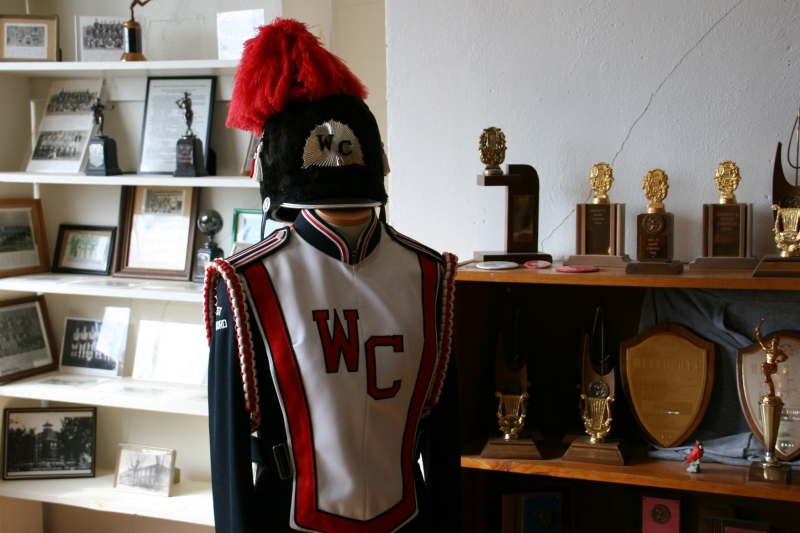 A majestic band uniform preserved.