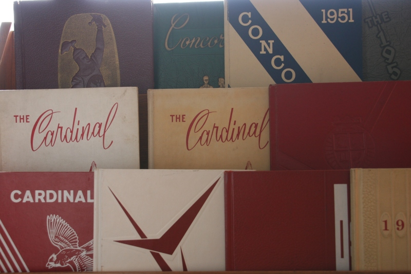 I was thrilled to find a collection of school yearbooks.