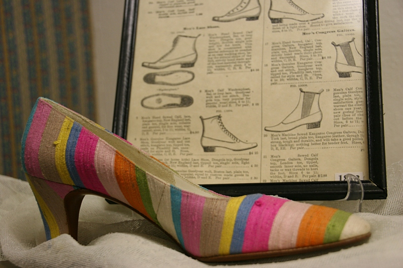 This shoe is the most colorful and memorable one I've ever seen. It's like a work of art, showcased in The Fashion Room.