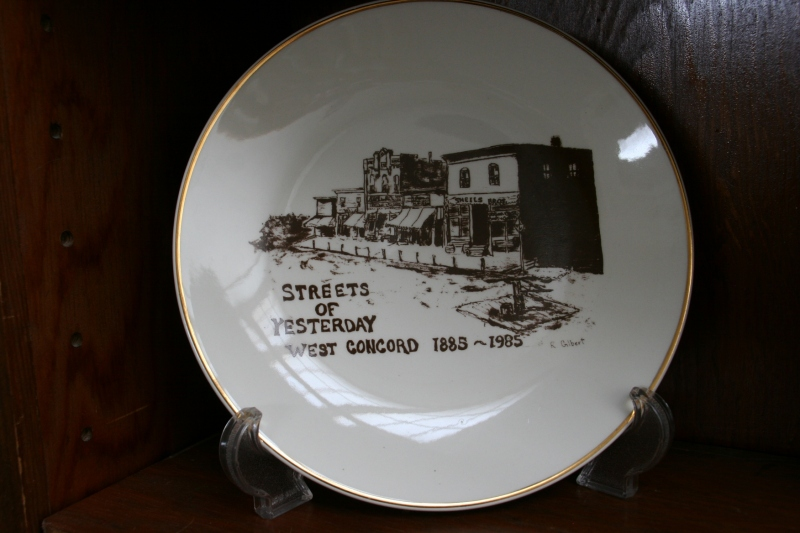 A commemorative plate from West Concord.