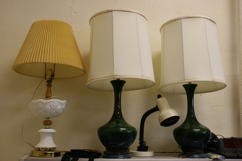 In Grandma's Attic you can buy garage sale type items, like these lamps, with proceeds benefiting the WCHS.