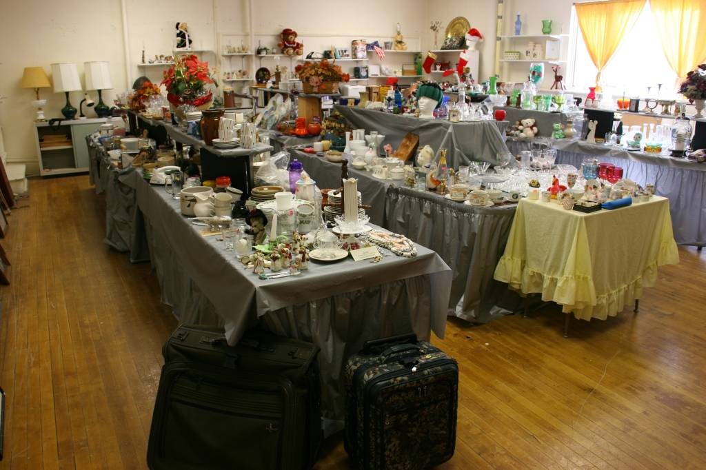 One classroom is devoted to a garage sale type space called Grandma's Attic. Here you can purchase secondhand merchandise