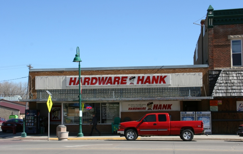 Many small towns still have thriving hardware stores like this Hardware Hank.
