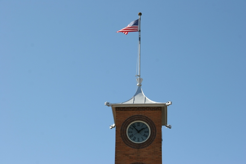 The top of City Hall.