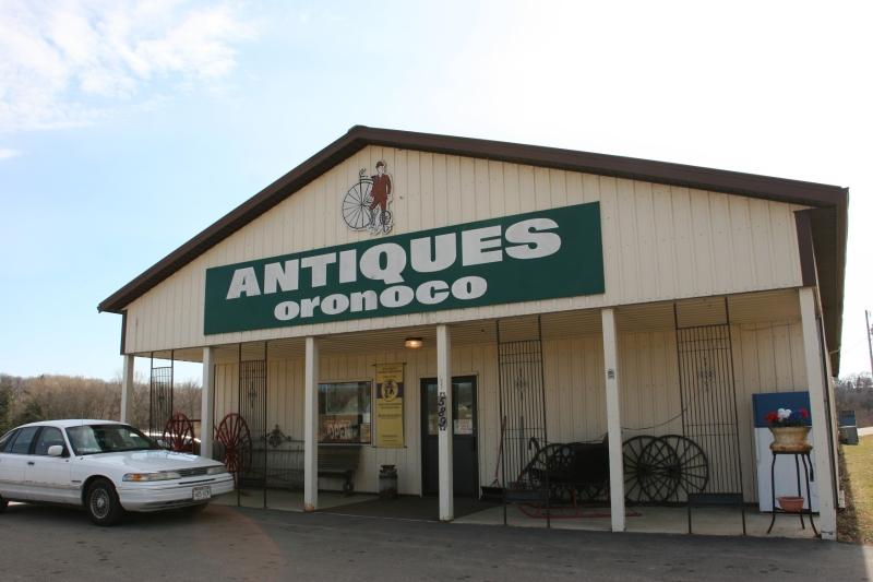 Antiques Oronoco, north of Rochester, just off Highway 52.