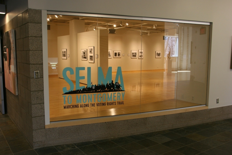 "The ""Selma to Montgomery"" exhibit at the Flaten Art Museum, St. Olaf, recently closed."