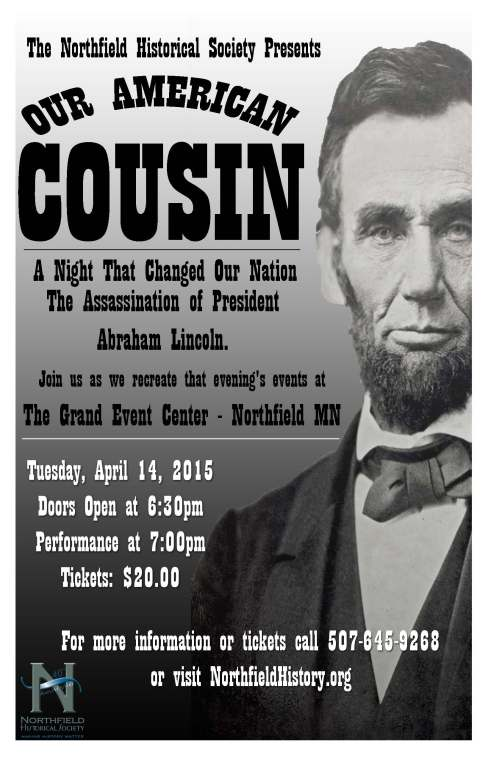 Promotional poster for the Lincoln event in Northfield, Minnesota.