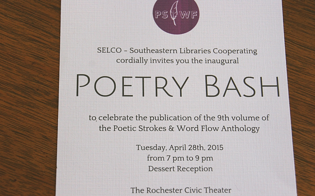 """I attended and read my poem, """"Wednesday Night Bingo at the Legion,"""" at an invitation only Poetry Bash at The Rochester Civic Theater on Tuesday evening."""