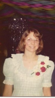 Me in the dress I stitched for prom in 1974, my senior year of high school.